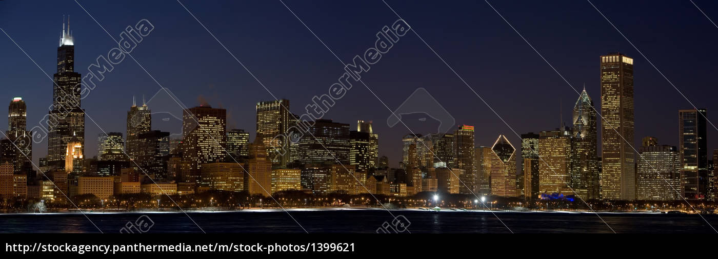 chicago, at, night - 1399621