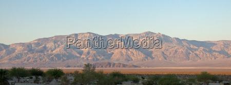 mountains desert wasteland sunset panamint springs