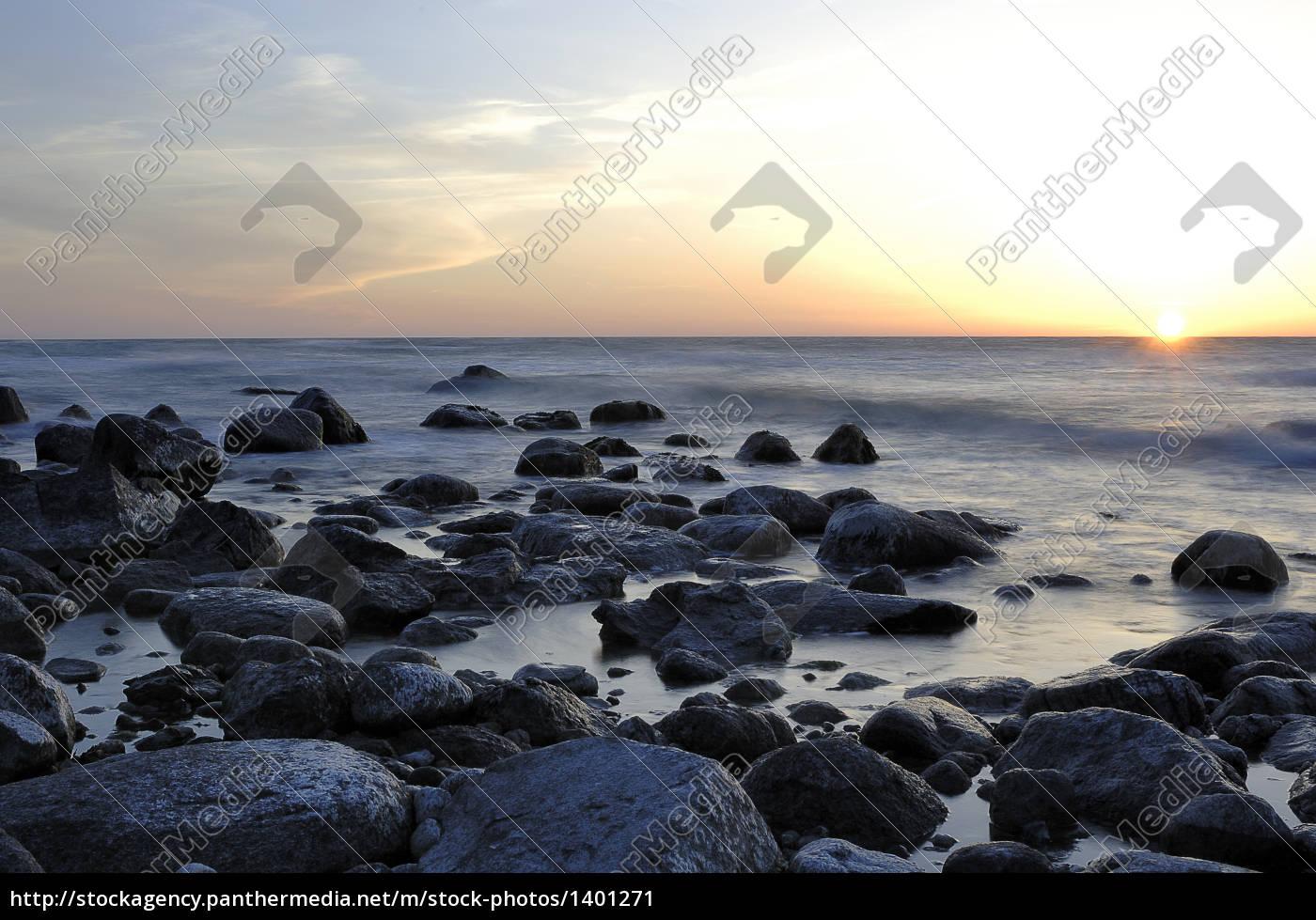 sunset, on, ruegen - 1401271