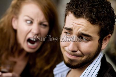 woman, yells, at, man - 1405461