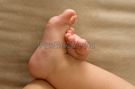 baby, feet, beige, fabric, crossing, suede - 1409747