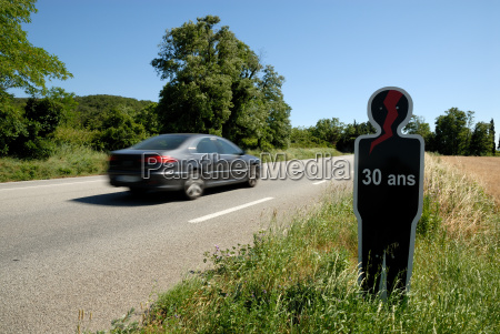 warning by road france
