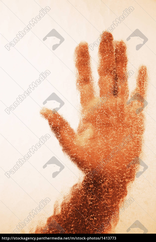 hand, behind, glass - 1413773