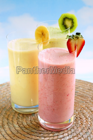 assorted, fruit, smoothies - 1414507