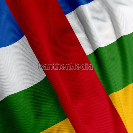 central african flag closeup