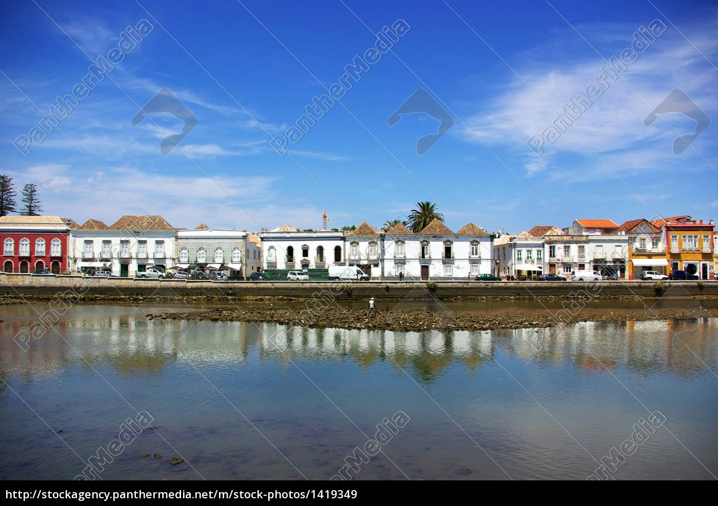 old, city, of, tavira, , algarve, , portugal. - 1419349
