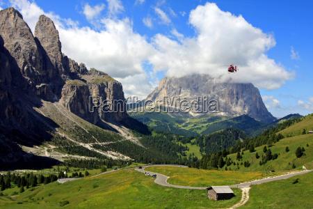 mountain rescue service in the alps