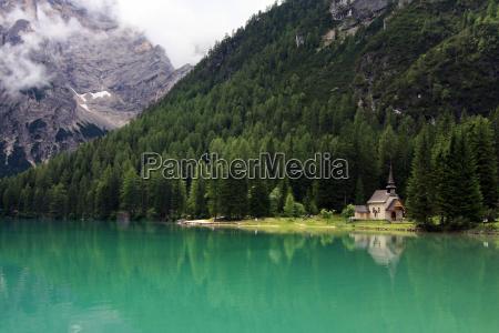at the mountain lake