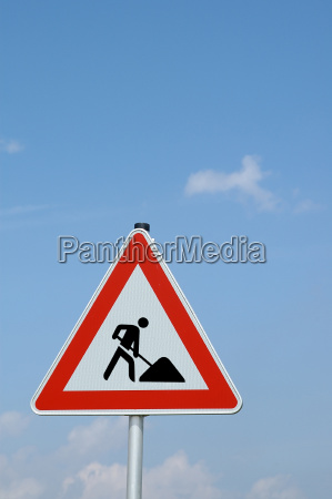 caution road work