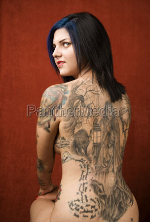 woman, with, a, tattoo, on, her - 1437003