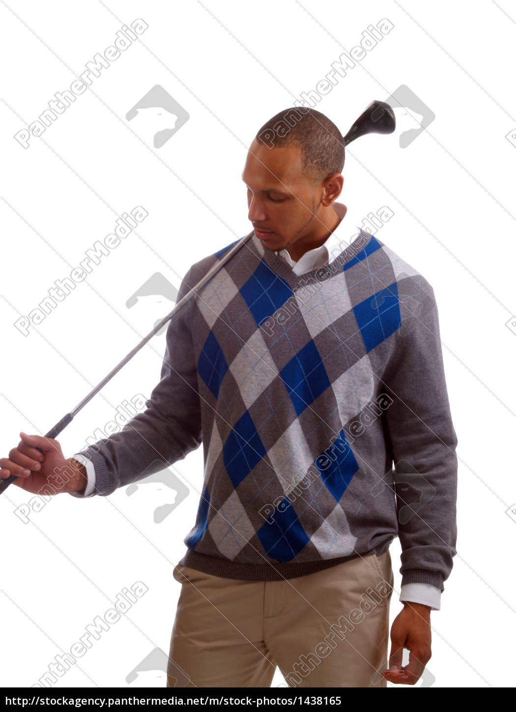young, black, man, with, golf, club - 1438165