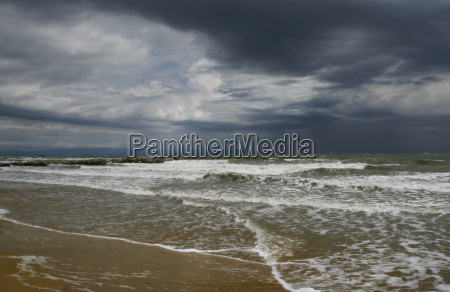 stormy weather on the adriatic