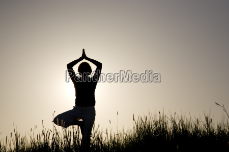 woman, doing, yoga, exercise, -, the - 1445277