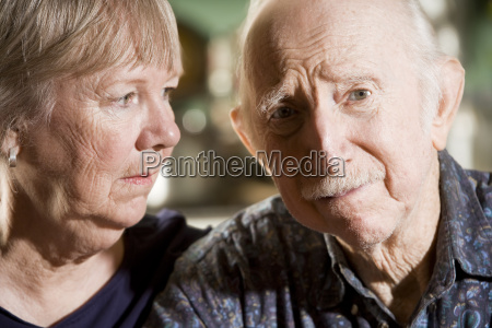 portrait, of, worried, senior, couple - 1455479