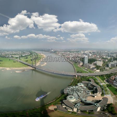 panorama of dusseldorf and rhine