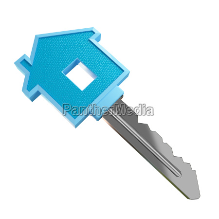 fine 3d image of isolated key