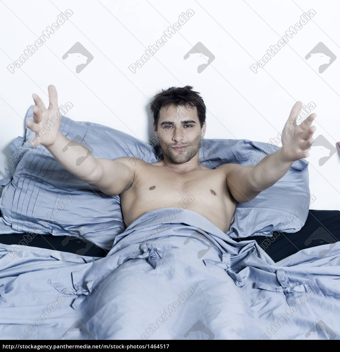 handsome, man, in, a, bed - 1464517