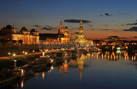 dresden at the blue hour