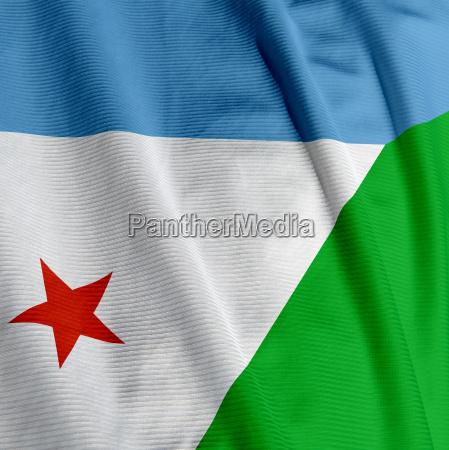 djibouti flag closeup