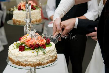 cutting the wedding cake 2
