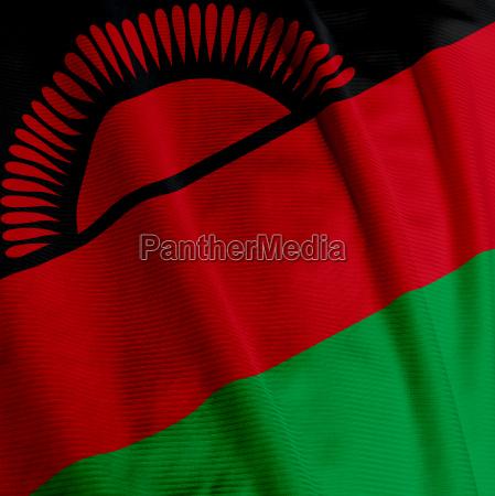 malawian flag closeup
