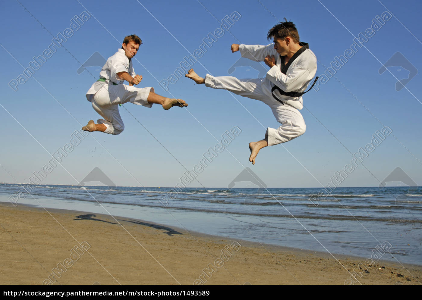 taekwondo, on, the, beach - 1493589