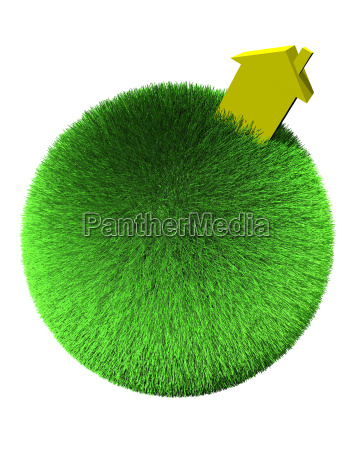 yellow, house, on, sphere, of, grass - 1502809