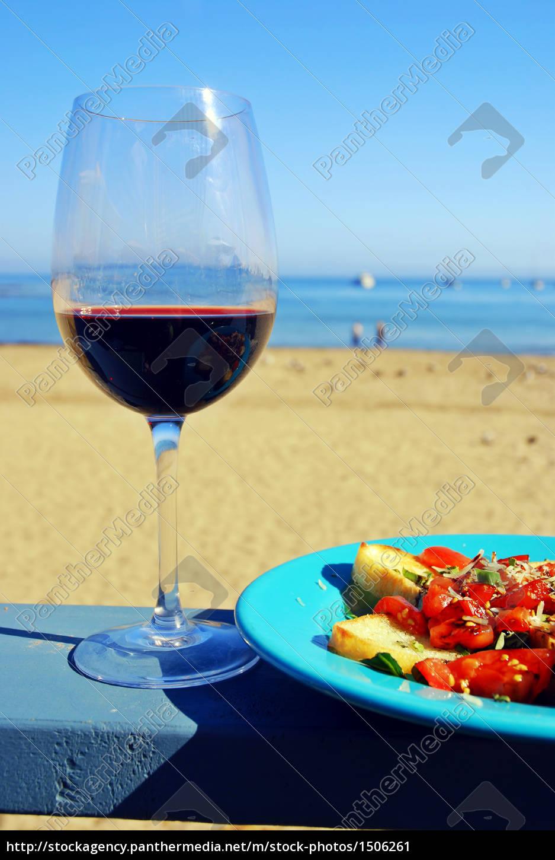 red, wine, and, bruschetta - 1506261