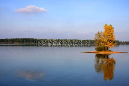 island in autumn