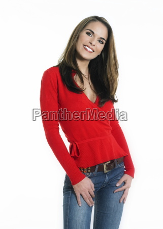 young and cute smiling woman