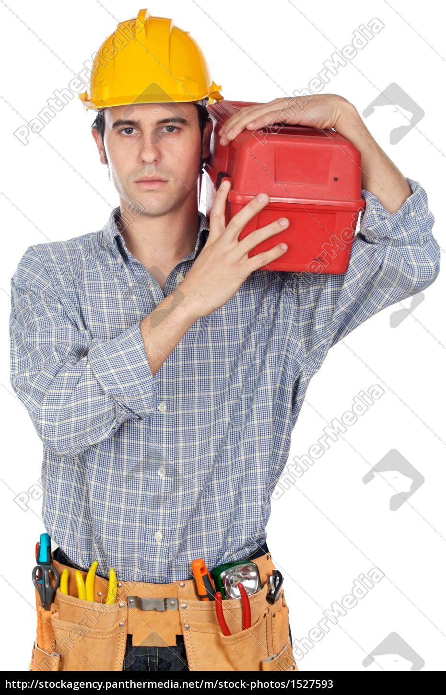 tool, helmet, box, workers, laborer, worker - 1527593