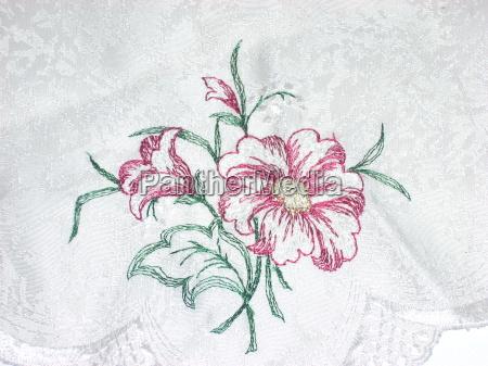 flower plant bright shiny broiders design