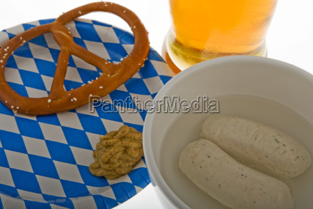 oktoberfest, with, beer, pretzel, and, weisswurst - 1530025