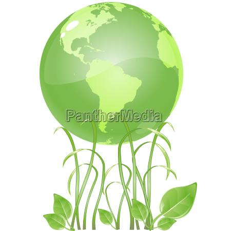 green grass earth
