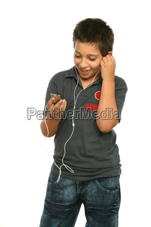 cool, boy, listening, music, with, a - 1542797