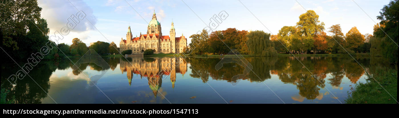 neues, rathaus, hannover, panorama - 1547113