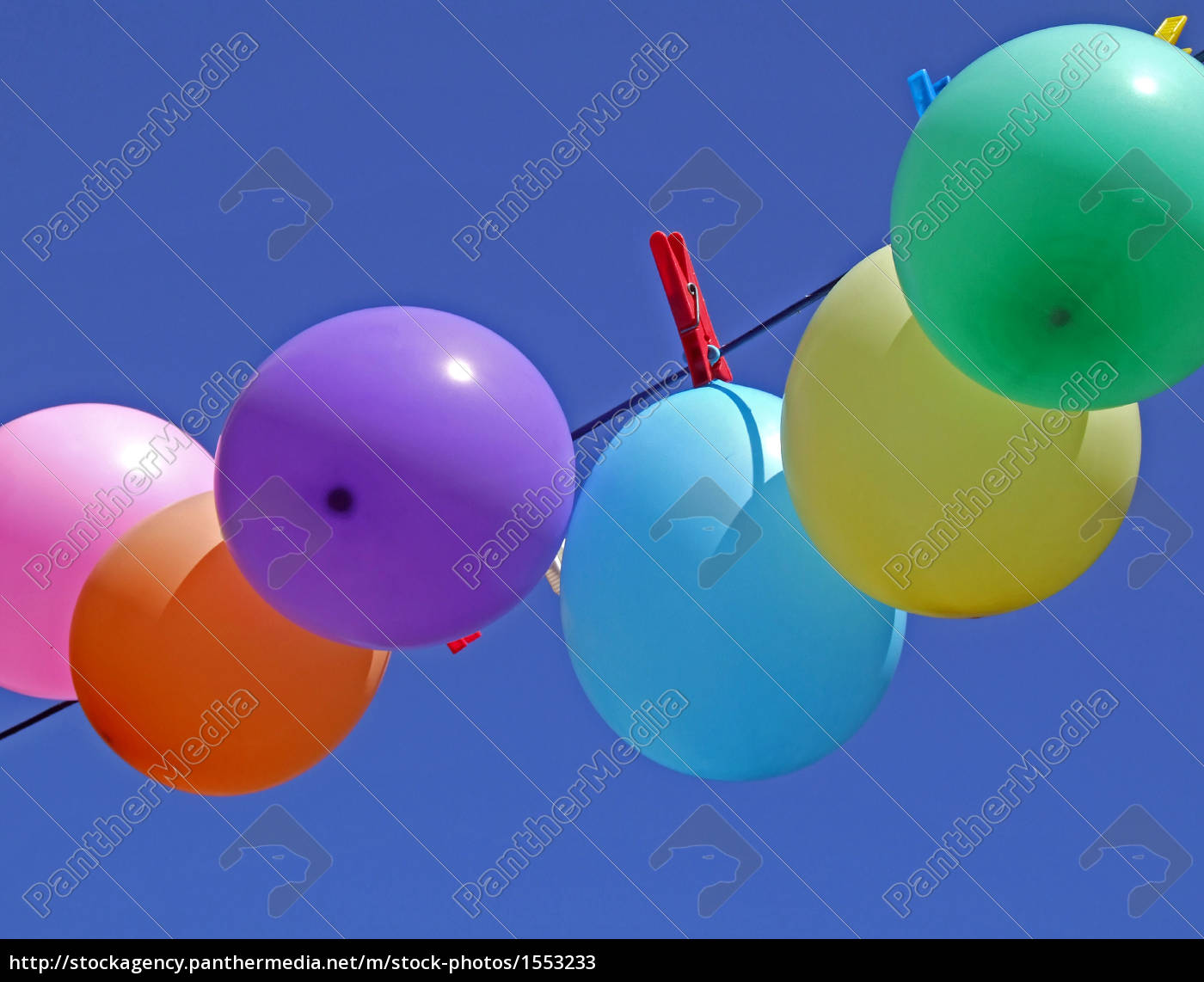 balloons, on, a, clothesline - 1553233
