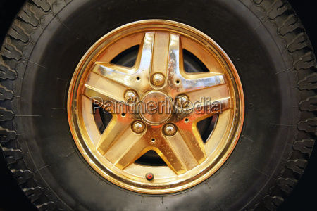 tires with golden rim