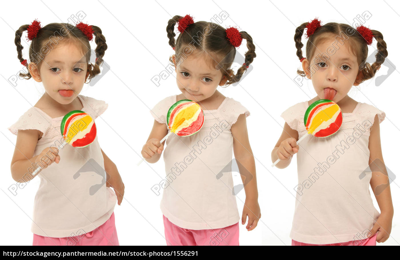 toddler, holding, a, lollipop, with, different - 1556291