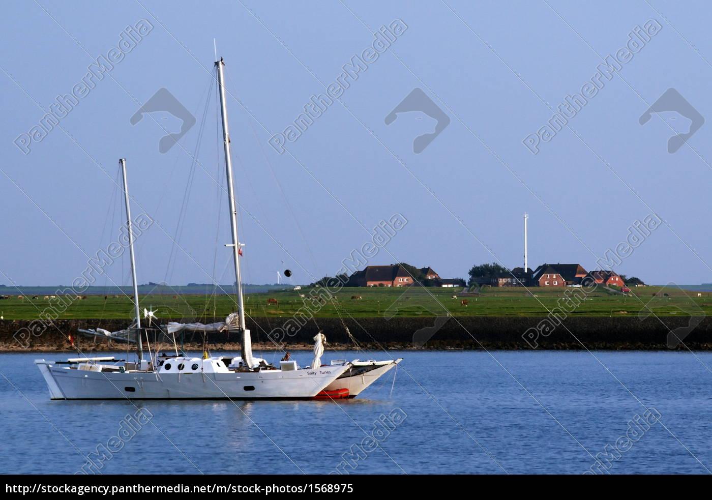 catamaran, before, hallig, hooge - 1568975