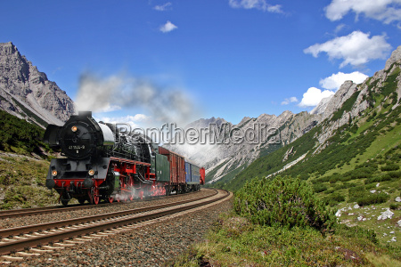 steam in the mountains