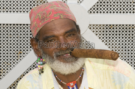 portrait with cigar