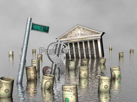 stock market storms on wall street