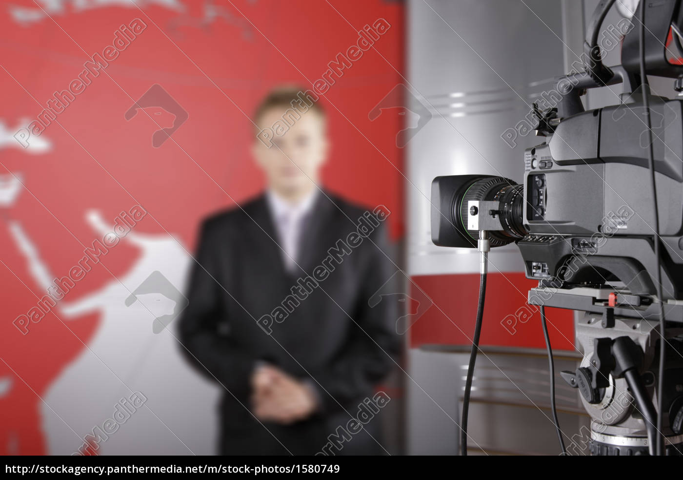 tv, studio, with, video, camera, and - 1580749