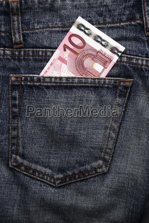 euro, pocket, money, in, blue, jeans - 1585425