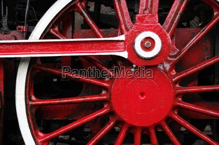 steam locomotive driving wheel