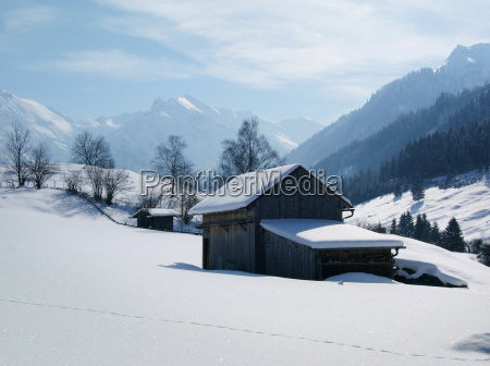 winter landscape in the allgaeu