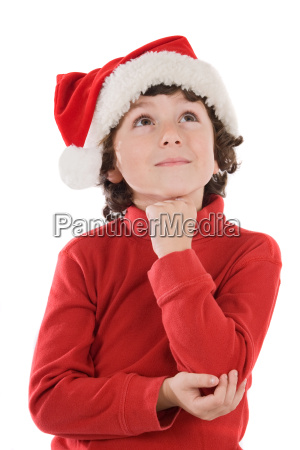 adorable, boy, with, red, hat, of - 1611411