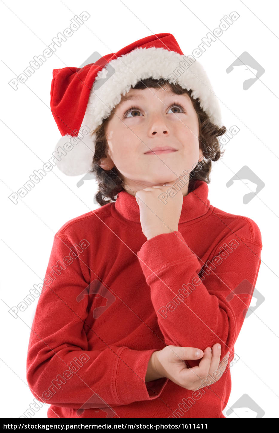 hat, christmas, thinking, boy, lad, male youngster - 1611411