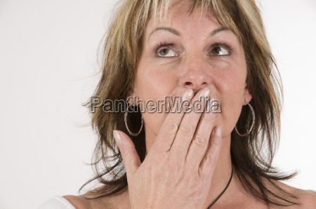 mature woman say nothing